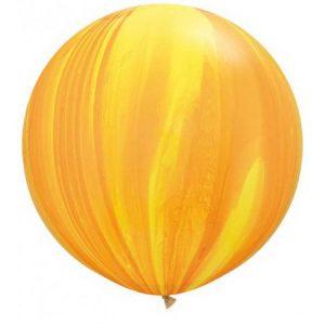 Globo de 80 centímetros, gama Agata, en color amarillo y naranja de la marca Qualatex