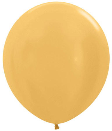 Globo de 80 centímetros, en color dorado satinado de la marca Sempertex