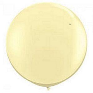 Globo de 80 centímetros, en color Ivory perlado de la marca Sempertex