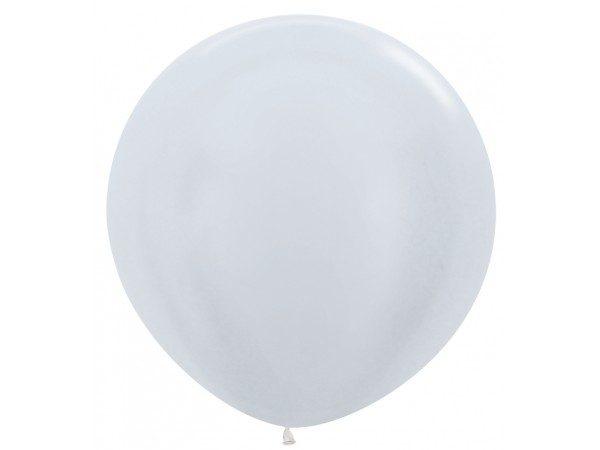 Globo de 80 centímetros, en color blanco perlado de la marca Sempertex