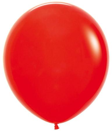 Globo de 80 centímetros, en color rojo de la marca Sempertex