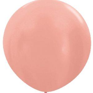 Globo 80 centímetros en color rosa dorado perlado de la marca Sempertex