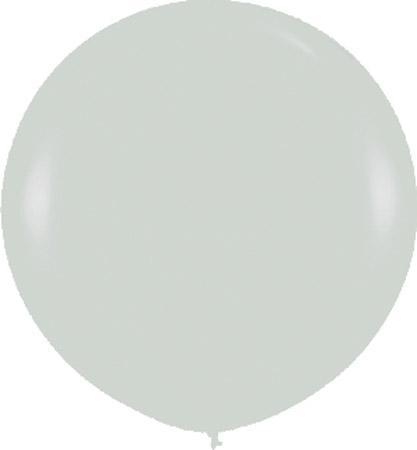 Globo de 80 centímetros, en color plata satinado de la marca Sempertex