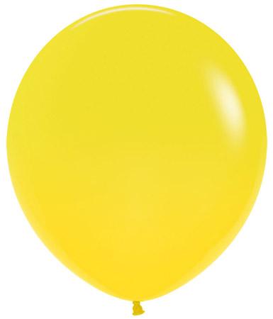 Globo de 80 centímetros, en color amarillo de la marca Sempertex