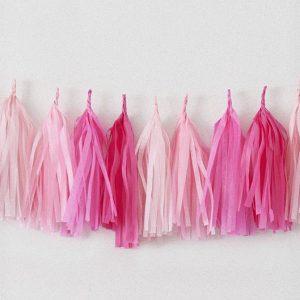 Tassels en colores rose, rose pale, rose saumon y rose vif diseñados por Made With Lof
