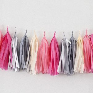 Tassels en colores rose saumon, rose, champagne, gris perle y argent diseñados por Made With Lof