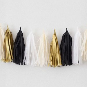 Tassels en colores noir, blanc, champagne y or diseñados por Made With Lof