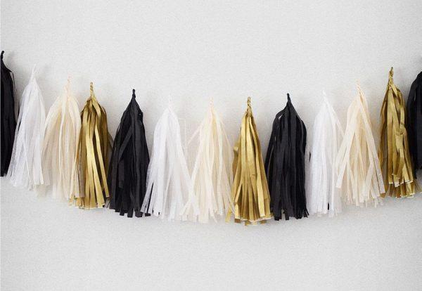 Tassels en colores noir, blanc, champagne y or diseñados por Made With Lof