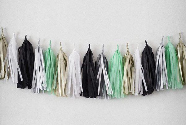 Tassels en colores noir, blanc, argent, mint y platine diseñados por Made With Lof