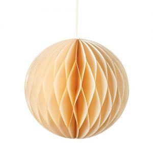 1 Honeycomb o, bola nido de abeja, en color crema, con un pequeño toque dorado en el filo, de 15 centímetros, diseñado por Talking Tables.