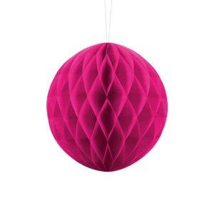 1 Honeycomb o, bola nido de abeja, en color rosa oscuro de 20 centímetros