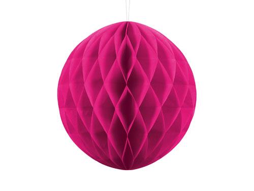 1 Honeycomb o, bola nido de abeja, en color rosa oscuro de 30 centímetros