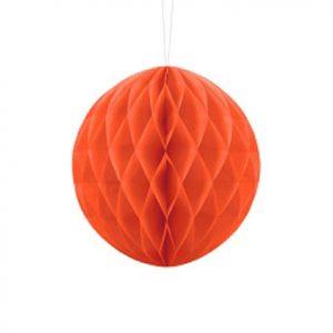1 Honeycomb o, bola nido de abeja, en color naranja de 20 centímetros