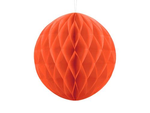 1 Honeycomb o, bola nido de abeja, en color naranja de 30 centímetros