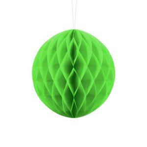 1 Honeycomb o, bola nido de abeja, en color verde manzana de 20 centímetros
