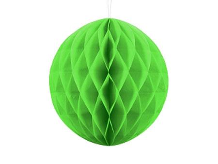 1 Honeycomb o, bola nido de abeja, en color verde manzana de 30 centímetros