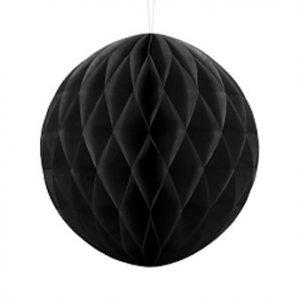 1 Honeycomb o, bola nido de abeja, en color negro de 30 centímetros