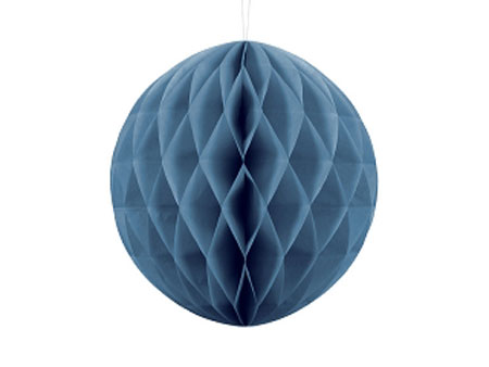 1 Honeycomb o, bola nido de abeja, en color azul de 30 centímetros