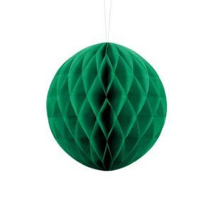 1 Honeycomb o, bola nido de abeja, en color verde esmeralda de 20 centímetros