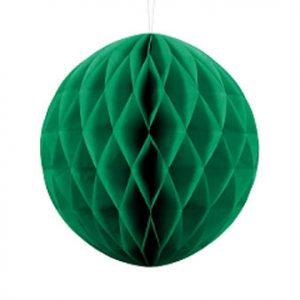 1 Honeycomb o, bola nido de abeja, en color verde esmeralda de 30 centímetros