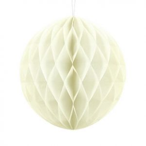 1 Honeycomb o, bola nido de abeja, en color crema de 30 centímetros