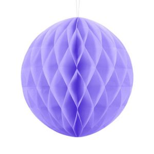 1 Honeycomb o, bola nido de abeja, en color lila de 30 centímetros