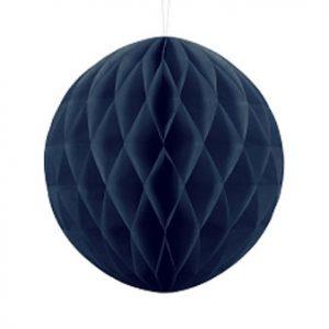 1 Honeycomb o, bola nido de abeja, en color navy blue de 30 centímetros