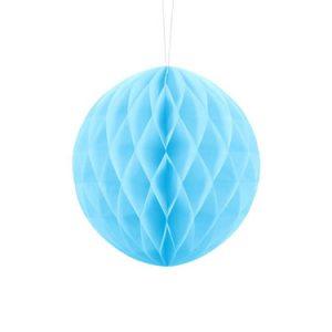 1 Honeycomb o, bola nido de abeja, en color azul cielo de 20 centímetros