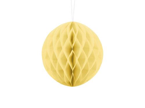 1 Honeycomb o, bola nido de abeja, en color amarillo claro (starw) de 20 centímetros