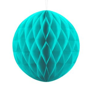 1 Honeycomb o, bola nido de abeja, en color turquesa de 30 centímetros