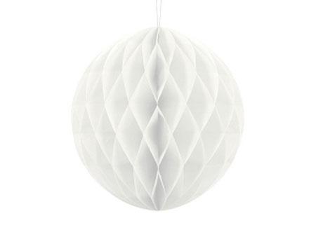 1 Honeycomb o, bola nido de abeja, en color blanco de 30 centímetros