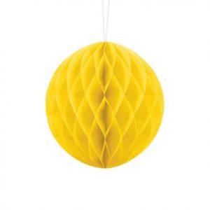1 Honeycomb o, bola nido de abeja, en color amarillo de 20 centímetros