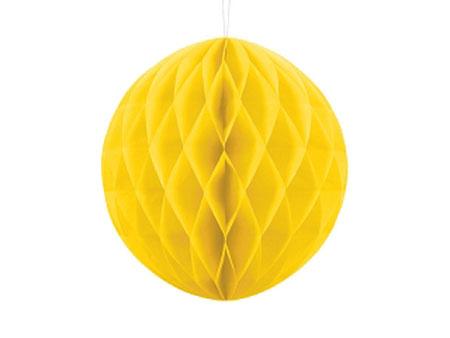 1 Honeycomb o, bola nido de abeja, en color amarillo de 30 centímetros