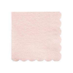 Servilletas en color rosa claro diseñadas por Meri Meri