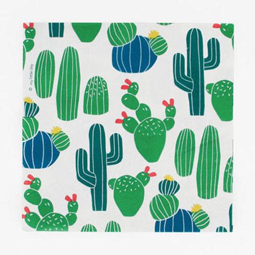Servilletas con divertidos cactus diseñadas por My Little Day