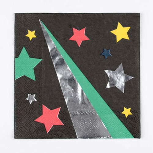 Sevilletas en color negro con disco stars diseñadas por My Little Day