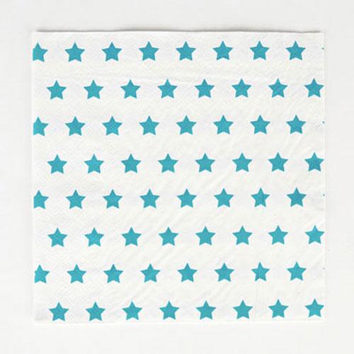 Servilletas en color blanco con estrellas azules diseñadas por My Little Day