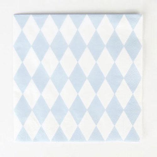 Servilletas con rombos blancos y azules diseñadas por My Little Day