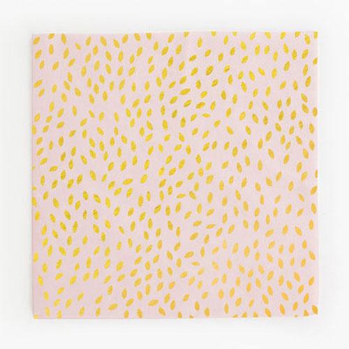 Servilletas en color rosa con semillas doradas diseñadas por My Little Day