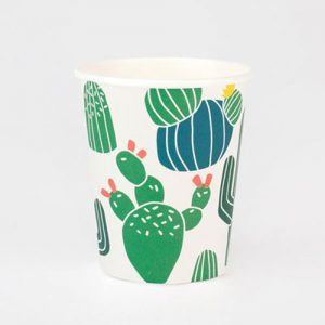 Vasos con divertidos cactus diseñados por My Little Day
