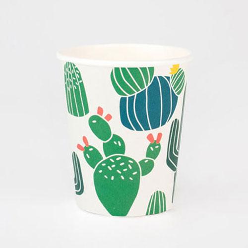 Vasos con divertidos cactus diseñados por My Little Day