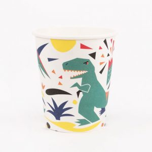 Vasos con divertidos dinosaurios diseñados por My Little Day
