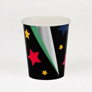 Vaso en color negro con estrellas disco diseñados por My Little Day