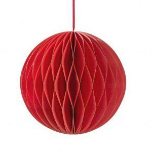 1 Honeycomb o, bola nido de abeja, en color rojo, con un pequeño toque dorado en el filo, de 15 centímetros, diseñado por Talking Tables.