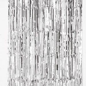 Cortina de 91 centímetros x 2,43 metros en color plata