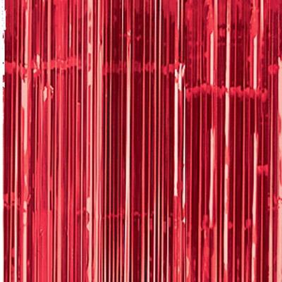 Cortina de 91 centímetros x 2,43 metros en color rojo