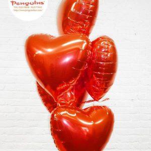 Globos foil corazón 45 cms