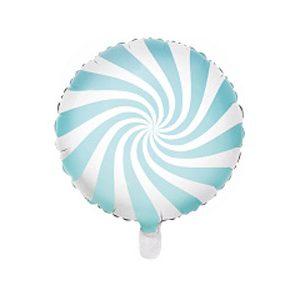 Globo caramelo candy de foil de 45 centímetros en color azul patisserie
