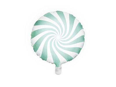 globo caramelo candy de foil en color menta patisserie de 45 centímetros