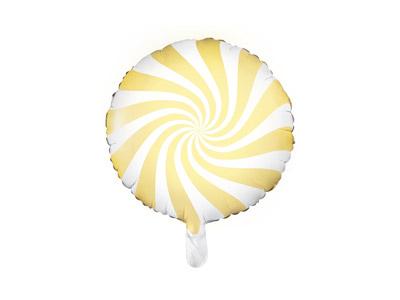 Globo caramelo candy de foil en color amarillo patisserie de 45 centímetros